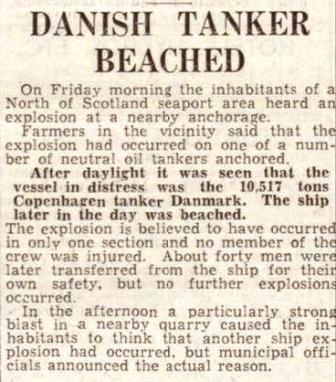 Aberdeen Journal 15 Jan 1940 DANMARK