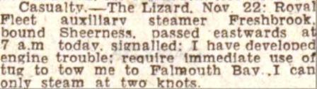 Freshbrook Press Cutting