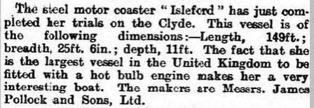 Isleford press cutting