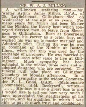Press Cutting Chatham News 21 4 1939