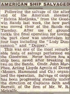 Press Cutting Dapper Dover 1 Nov 1946