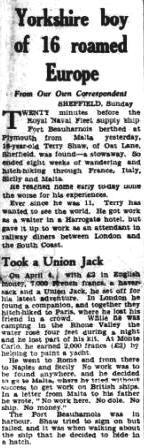 Press Report Yorkshire Post 5 Jun 1950