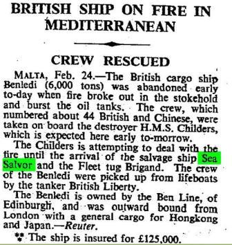 Times 25 Feb 1950 Press Report