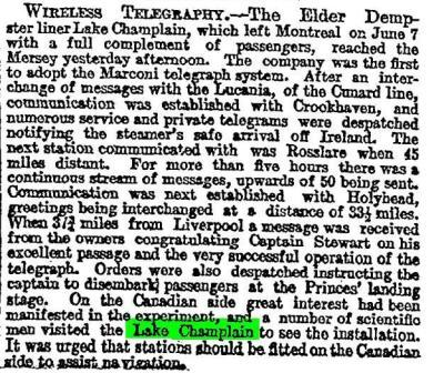 Times Press report 1901 Ruthenia