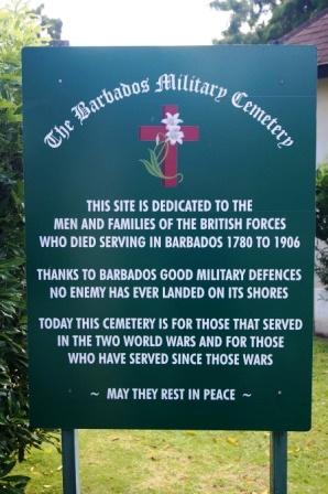 Entrance to Barbados Military Cemetery