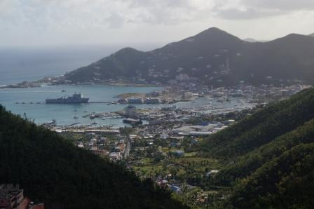 Mounts Bay from the top of Tortola