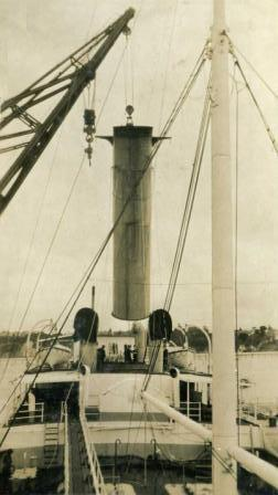 Lifting Nuculas Funnel 3.1 in March 1925