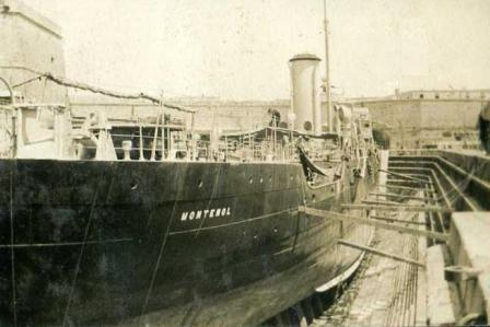 Montenol in dry dock at Malta