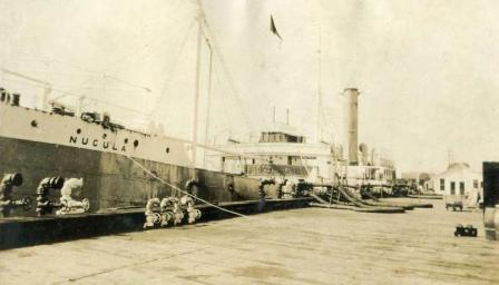 Nucula loading at Standard Oil Wharf St Pedro CA Oct 1925