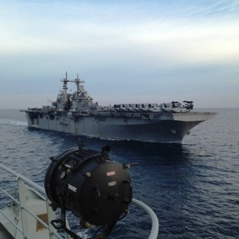 USS KEARSARGE approaching Fvic