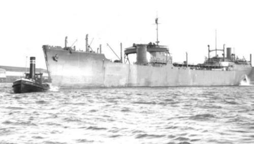 1944 Operation Shingle - RFA Empire Salvage